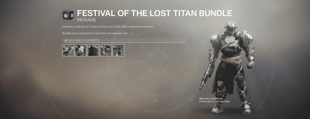 Festival of the Lost Titan Universal Ornament Set