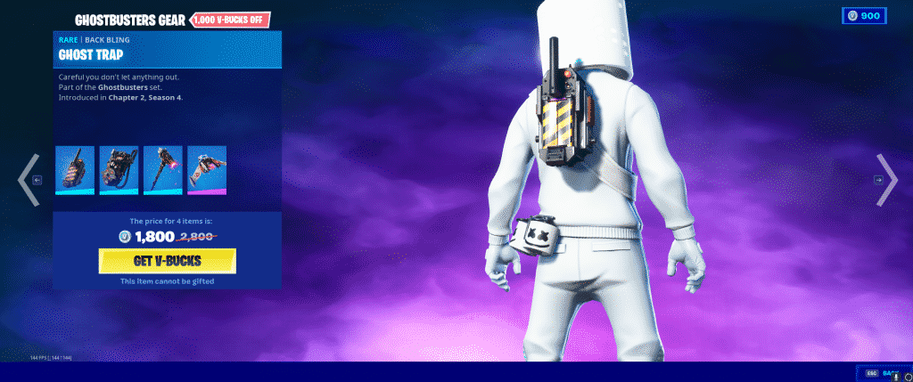 Ghost Trap Back Bling