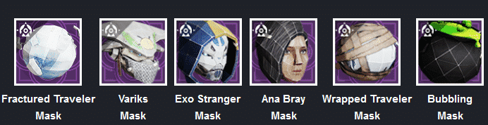 Various masks included in Festival of the Lost