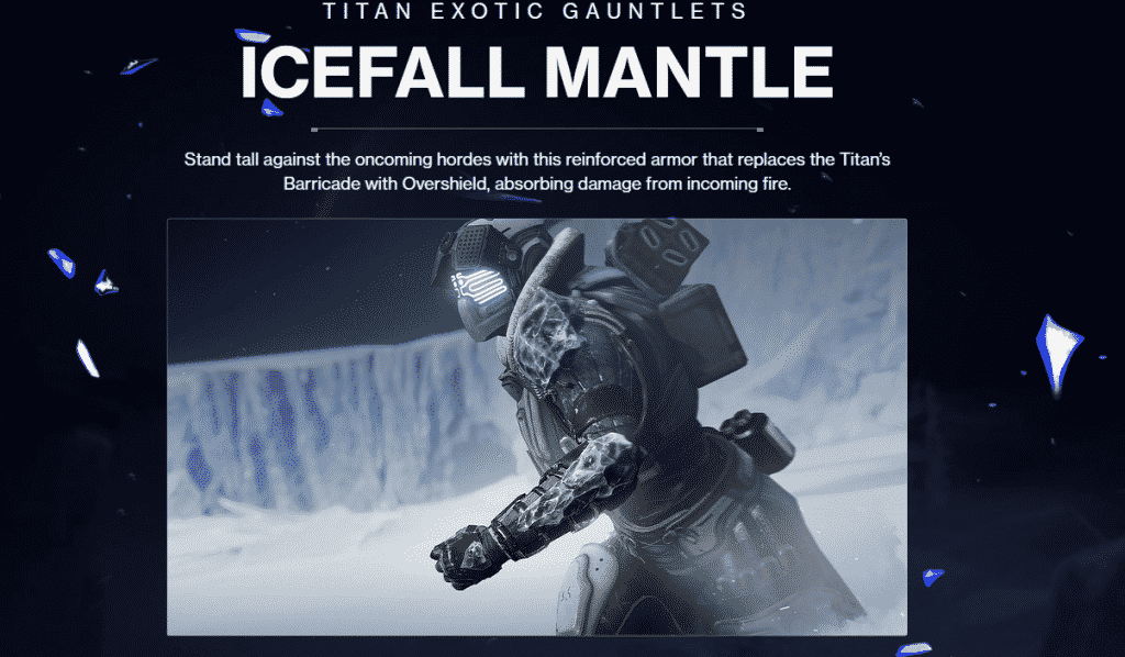 Icefall Mantle Exotic Titan Gauntlets