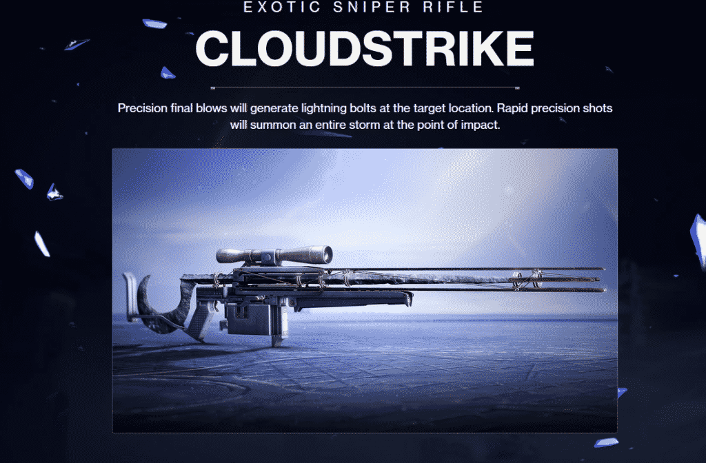 Cloudstrike Exotic Sniper Rifle
