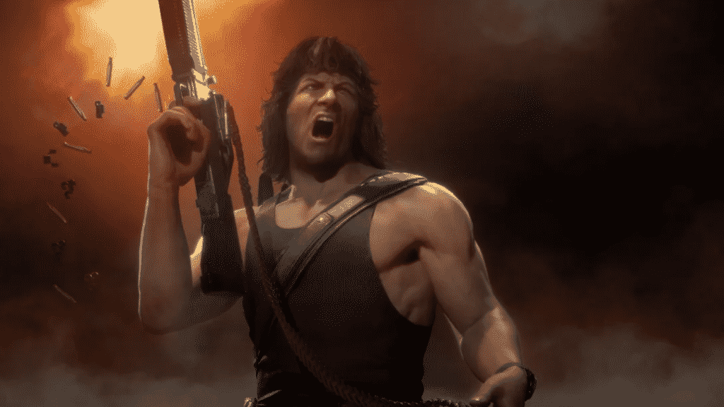 Sylvester Stallone as Rambo in Mortal Kombat 11