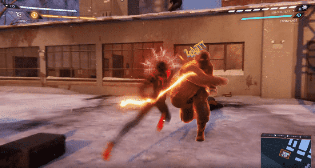 Miles Morales in action in-game