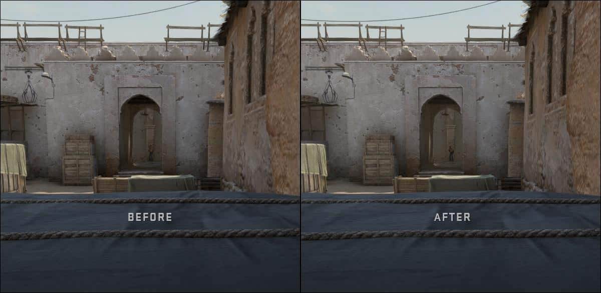 CSGO Contrast boost before and after