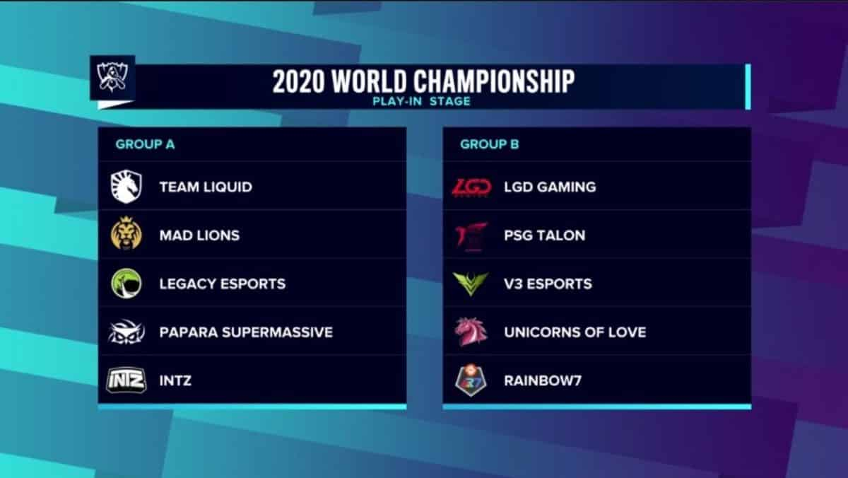 Worlds Play-In 2020