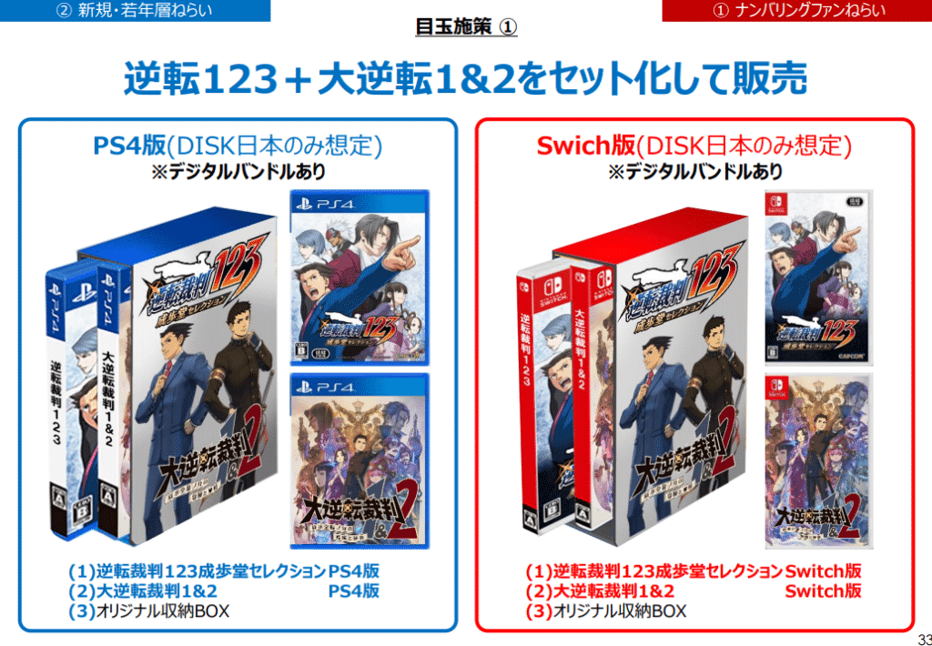 Ace Attorney Trilogy and The Great Ace Attorney in a bundle.