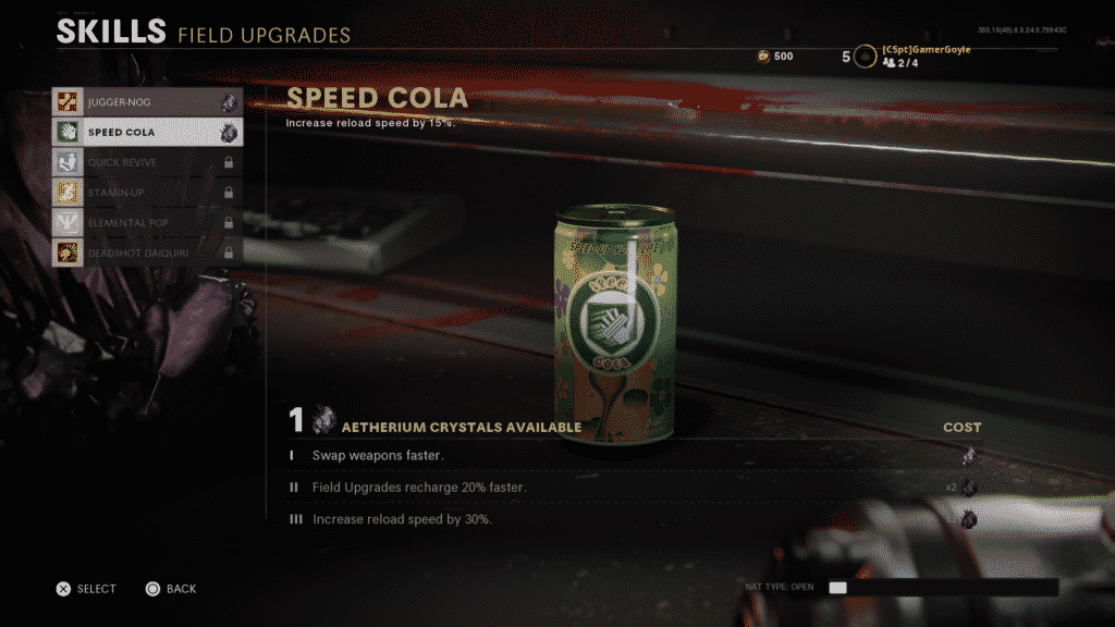 Cold War Zombies Perks Upgrades
