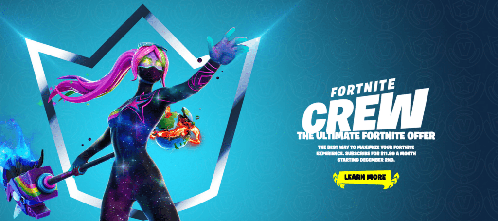Fortnite Crew Subscription Service Epic Games