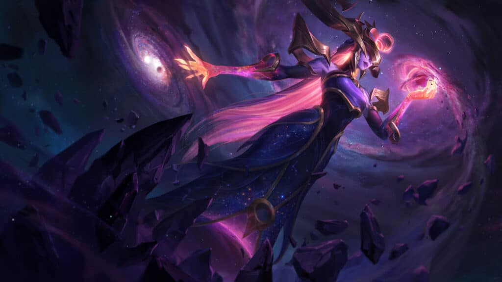 Dark Cosmic Lissandra new skin from League of Legends patch 10.24