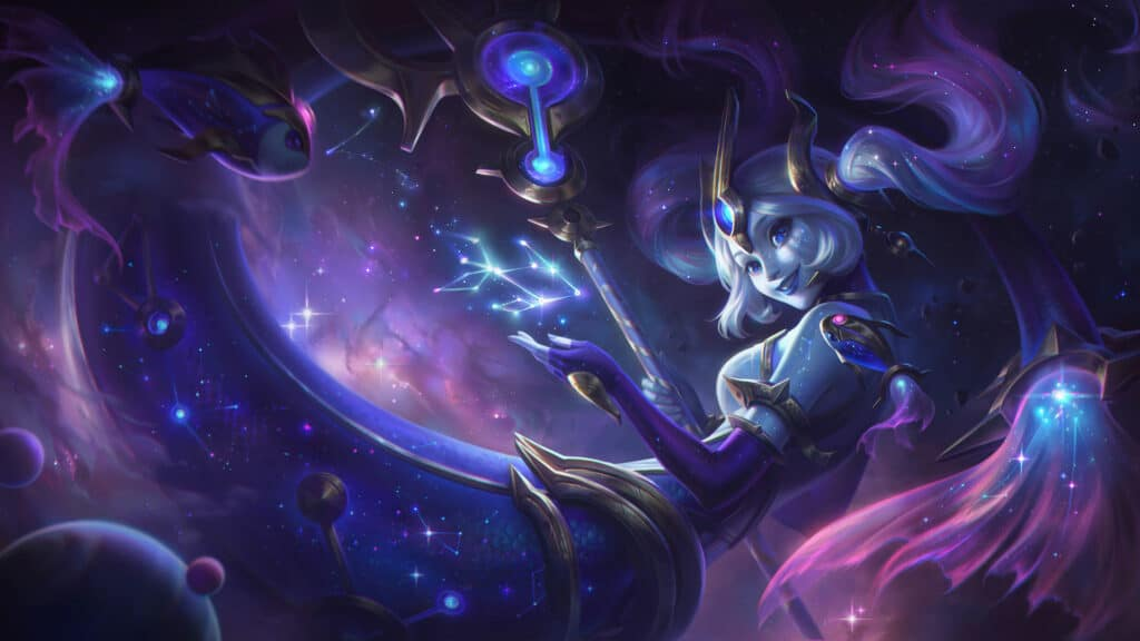 Cosmic Destiny Nami new skin from League of Legends patch 10.24