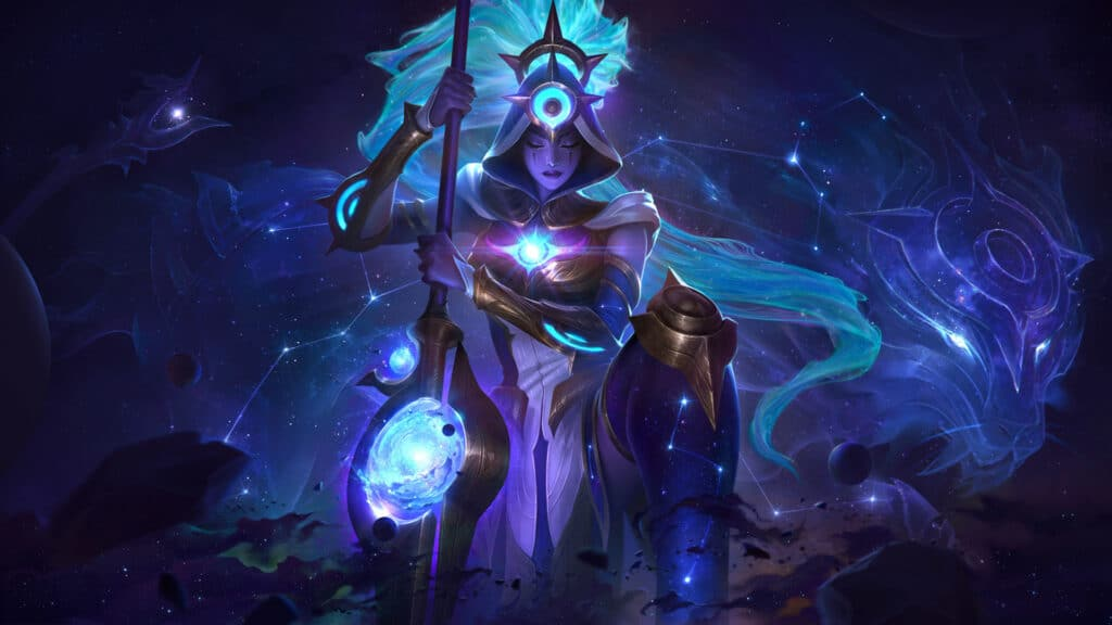Cosmic Huntress Nidalee new skin from League of Legends patch 10.24