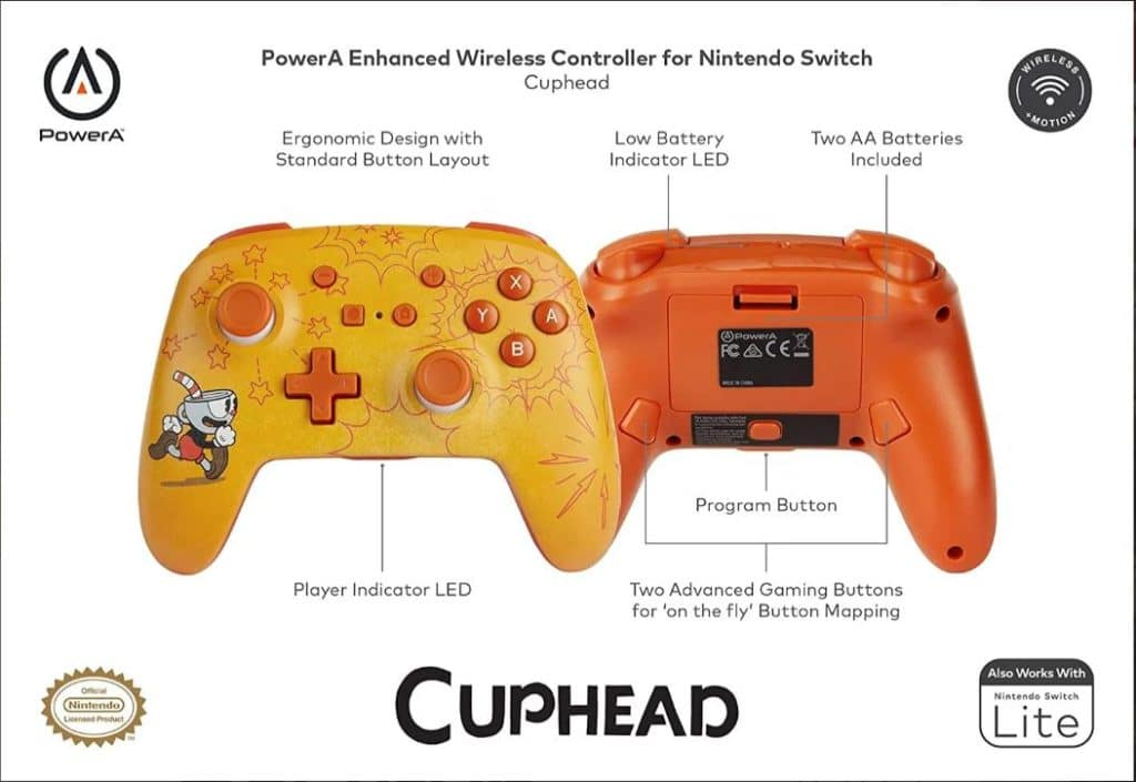 Cuphead Wireless Switch Controller