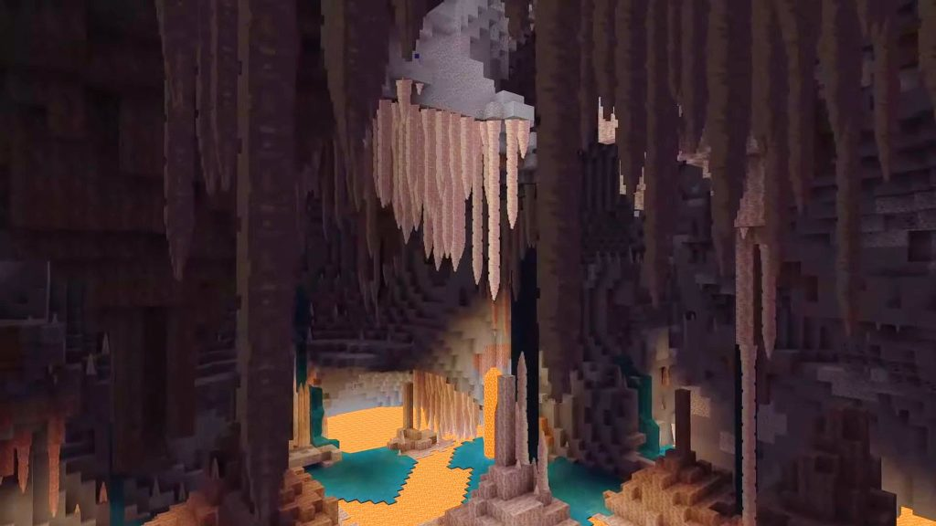New Dripstone cave biome Minecraft Patch 1.17