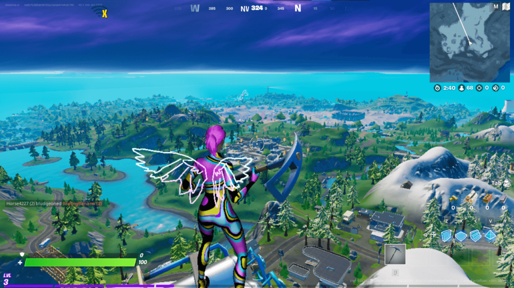 Fortnite gameplay in Performance Mode