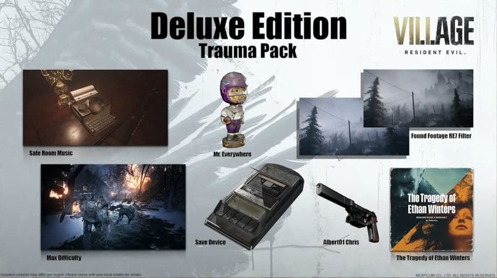 Resident Evil 8 Village Deluxe Edition Contents