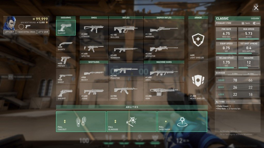 VALORANT Weapons Guide: Buy Phase