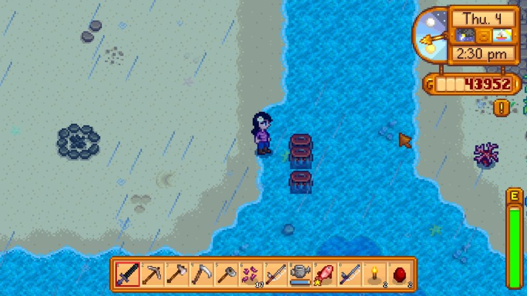 Stardew_Valley Sea With Crab Pot