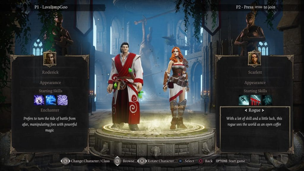 Screenshot of character creation for Divinity Original Sin