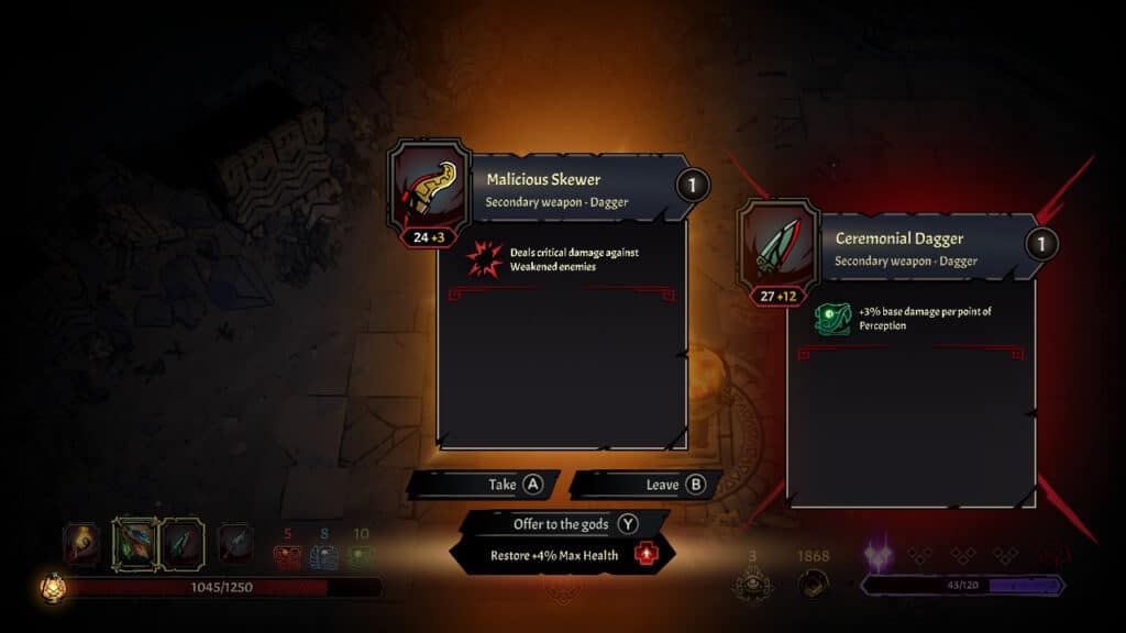 curse of the dead gods offer to the gods