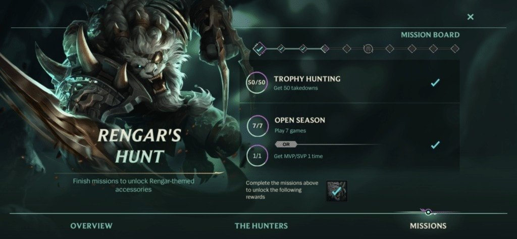 masters of the hunt missions