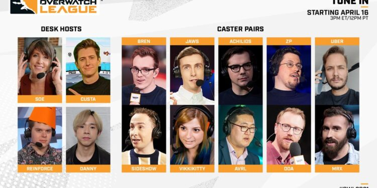 This year's Overwatch League Casters and Analysts include several returning faces