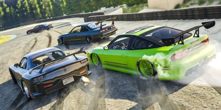 Drifting in Grand Theft Auto 5