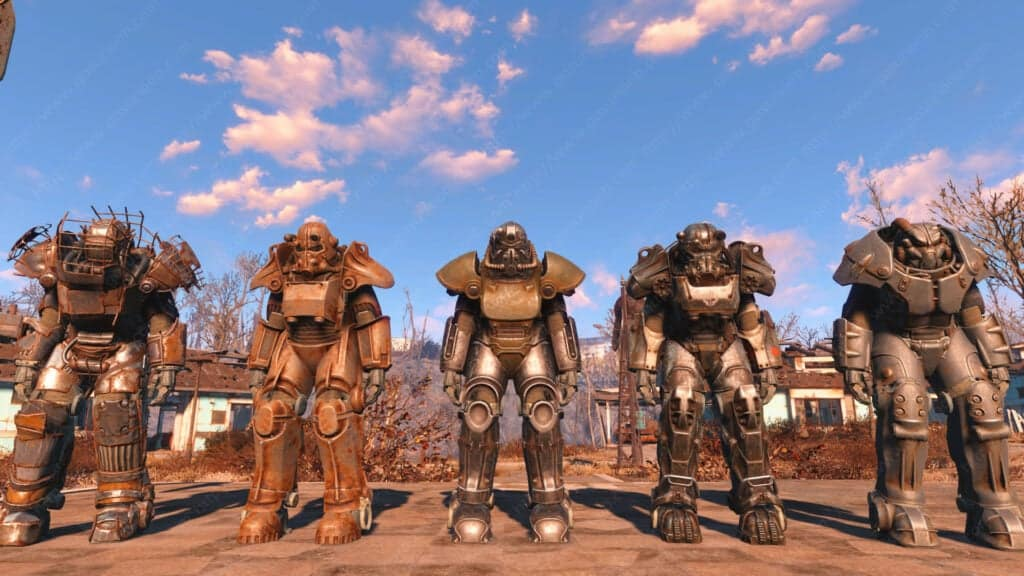 Different models of power armor in Fallout 4