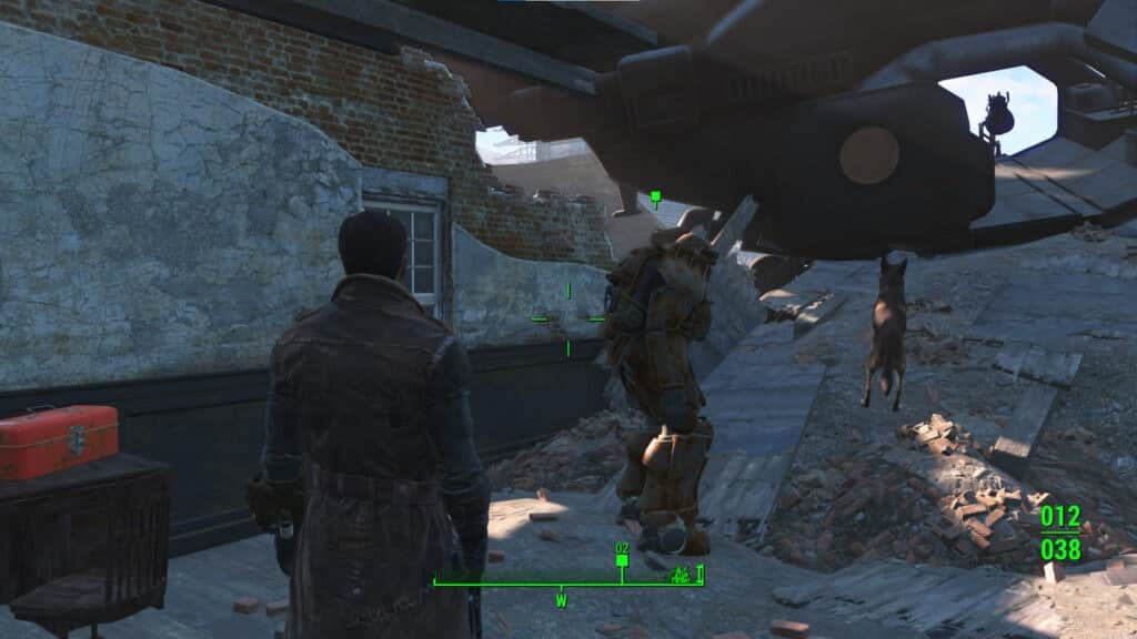 Location of the first power armor