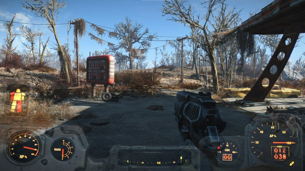 Different HUD when the player is inside the power armor